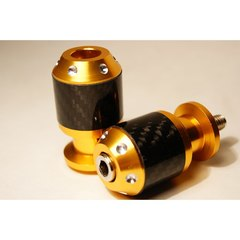 Слайдеры на маятник мотоцикла с карбоновыми вставками, 30х55 мм Золотой