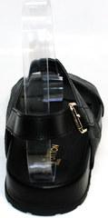 Босоножки мужские кожаные Louis Vuitton 1008 01Blak.
