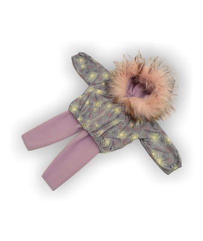 Костюм с курткой c мехом - Сиреневый. Одежда для кукол, пупсов и мягких игрушек.