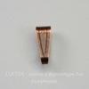Винтажный декоративный элемент - бейл 10х4 мм (оксид меди)