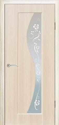 Дверь Сибирь Профиль Элиза, цвет беленый дуб, остекленная