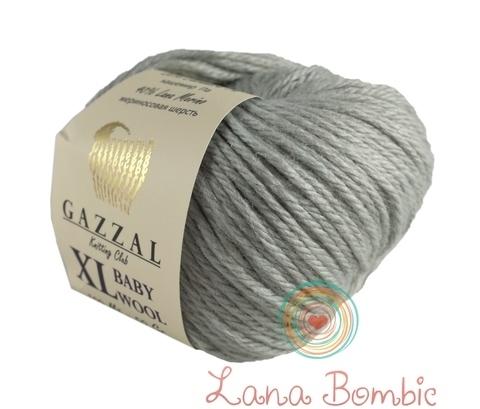 Пряжа Gazzal Baby Wool XL стальной 817