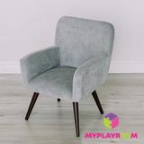 Детское стильное кресло в стиле 60-х, дымчатый 1