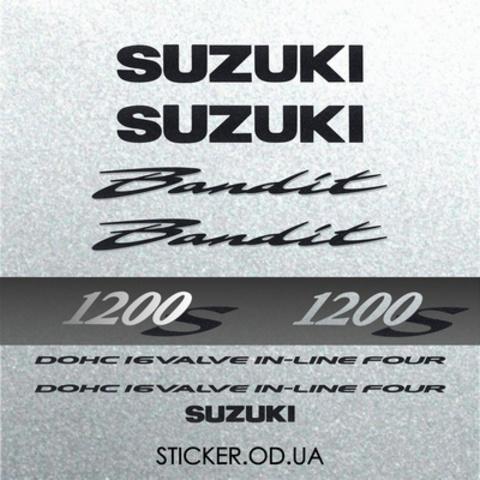 Набор виниловых наклеек на мотоцикл SUZUKI BANDIT 1200S, 2001