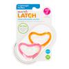 Пустышка ортодонтическая силиконовая LATCH 3+ 2 шт ц. красный/розовый