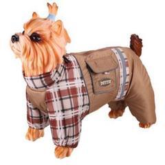 Комбинезон для собак, DEZZIE, такса большая - кобель, болонья-флис