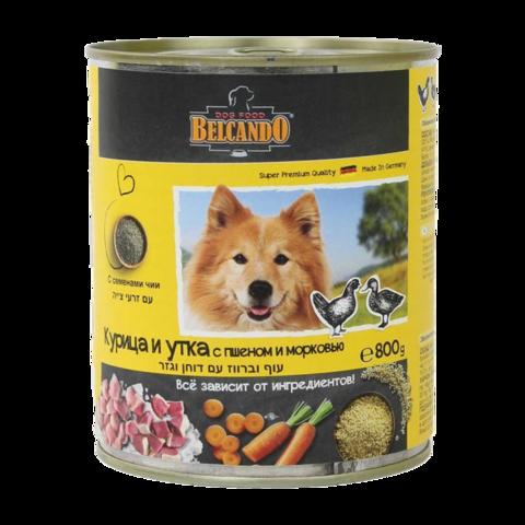 Belcando Huhn & Ente Консервы для собак с курицей , уткой , пшеном и морковью