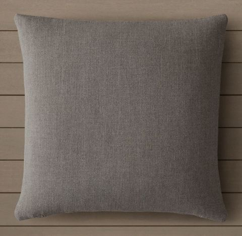 Custom Perennials® Textured Linen Solid Knife-Edge Square Pillow Cover