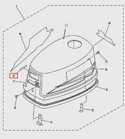 Индикатор  для лодочного мотора T5 Sea-PRO (1-9)