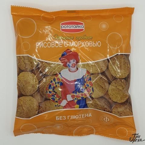 Печенье рисовое с морковью без глютена РОТОТАЙКА, 200 гр