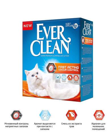Ever Clean Fast Acting комкующийся наполнитель быстрого действия д/кошек (6л)