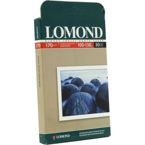 Фотобумага LOMOND Односторонняя, глянцевая,  10 х 15 см, 170 гр., 50 листов