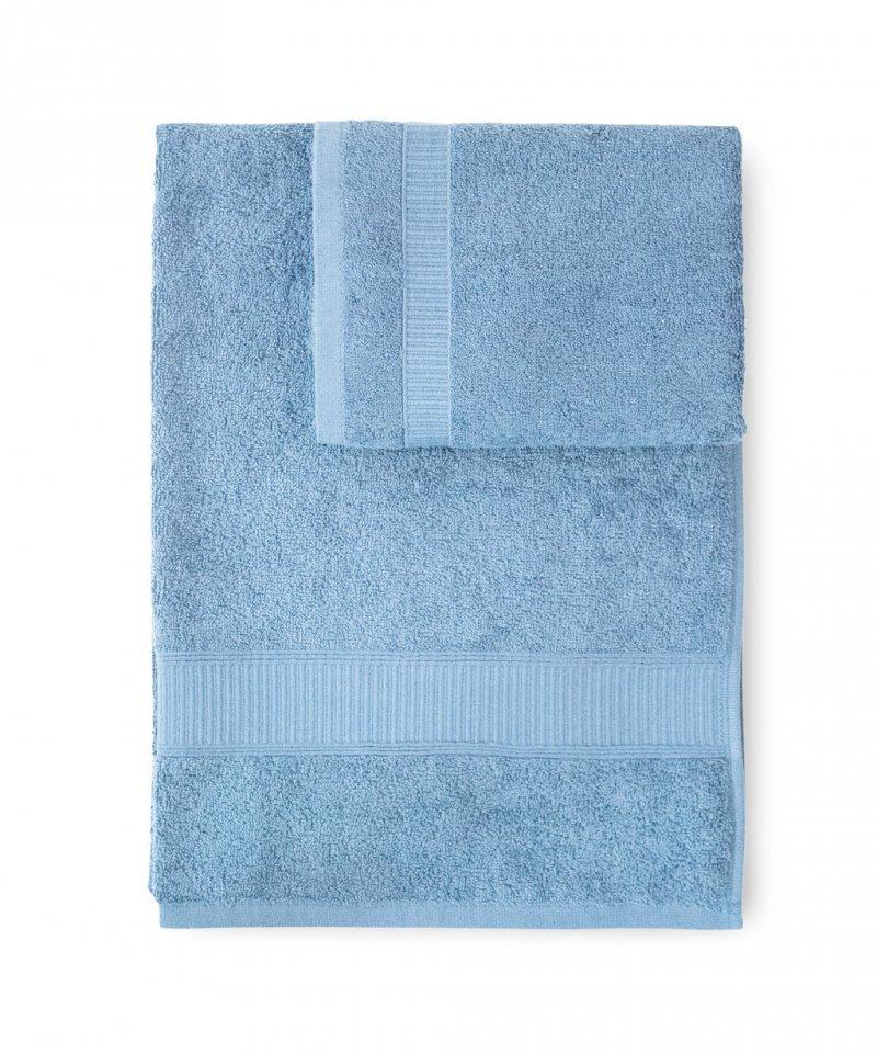 Наборы полотенец Набор полотенец 2 шт Caleffi Calypso голубой nabor-polotenets-2-sht-caleffi-calypso-akva-italiya.jpg