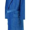Элитный халат велюровый 1639 синий от JOOP! - Cawo