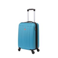 Чемодан Wenger Uster, голубой, 34x22x55 см, 37 л