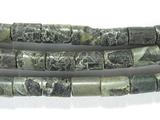 Нить бусин из яшмы Kambaba, фигурные, 4x6 мм (цилиндр, гладкая)