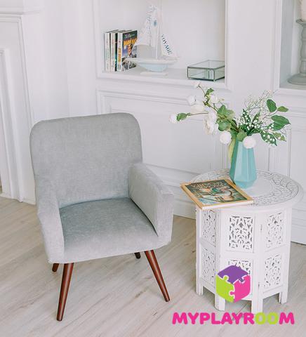 Детское стильное кресло в стиле 60-х, дымчатый 5