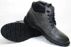 Зимние ботинки на шнурках мужские Ikoc 3620-3 S