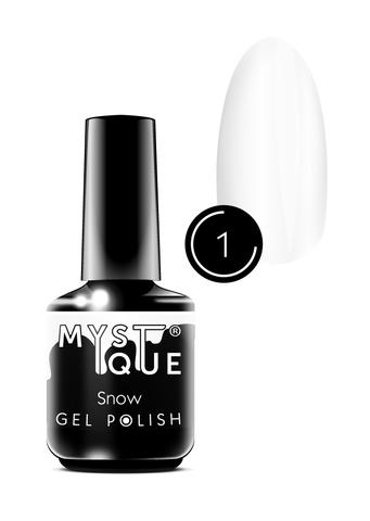 Mystique Гель-лак #1 «Snow» 15 мл