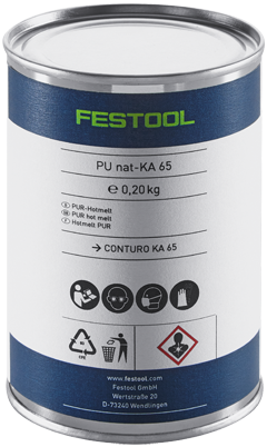 Клей  цвет бежевый PU nat 4x-KA 65 Festool 200056