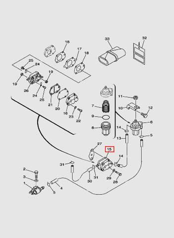 Бензонасос в сборе для лодочного мотора T40 Sea-PRO (6-15)