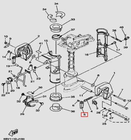 Ручка струбцыны для лодочного мотора F5 Sea-PRO(16-5)