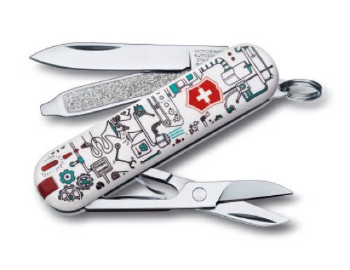 "Нож-брелок Victorinox Classic LE 2013, 58 мм, 7 функций, ""Iron Factory"""