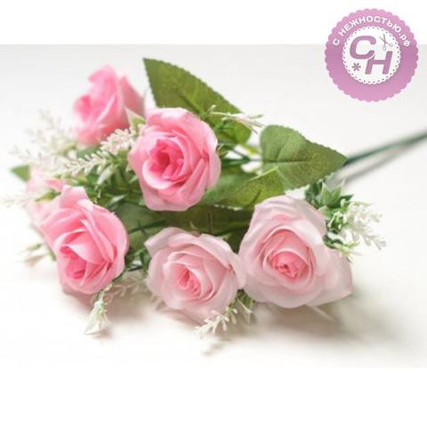 Розы искусственные, 6 веток, 30 см.