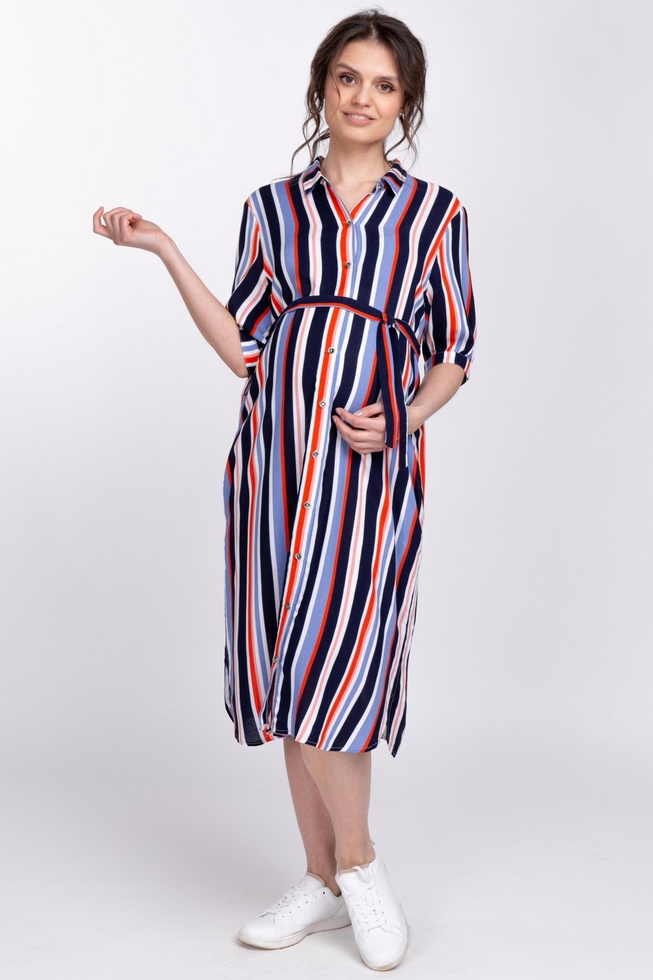 Платье для беременных 10376 голубой