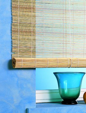 Бамбуковая рулонная штора натуральный