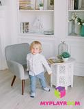 Детское стильное кресло в стиле 60-х, дымчатый 2