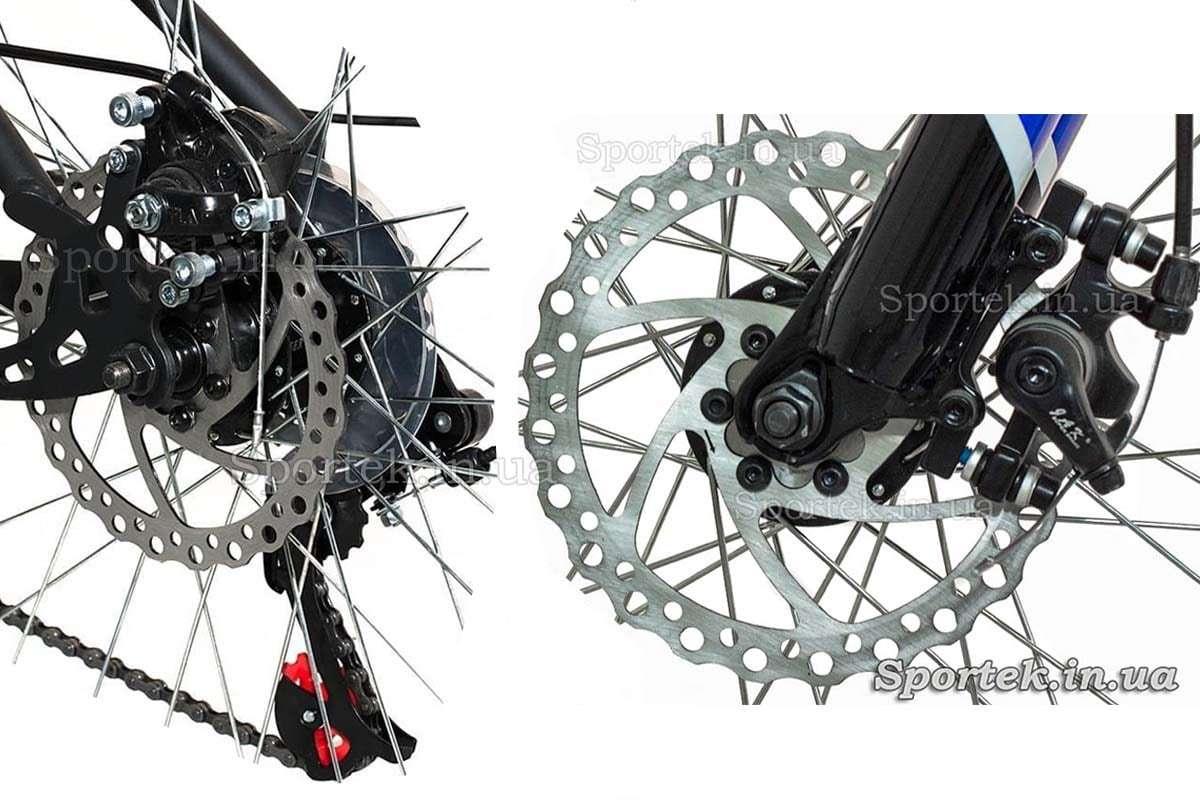 Дисковые тормоза на переднем и заднем колесе