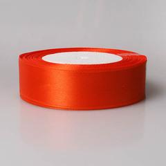 Лента атласная 1д х 23м оранжевая 144