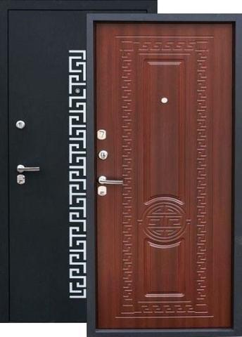 Дверь входная Зевс Z-5 Греция, 2 замка, 1,5 мм  металл, (чёрный шёлк+орех южный)