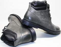 Мужские зимние ботинки кожа Ikoc 3620-3 S