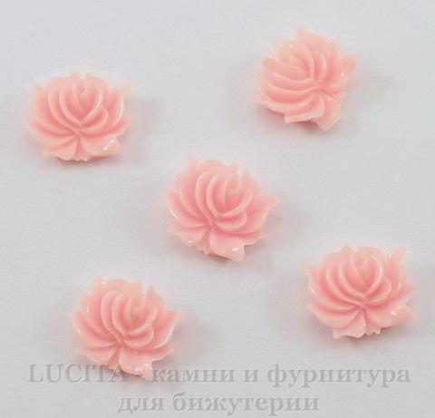 "Кабошон акриловый ""Дикая роза"", цвет - розовый, 12х10 мм, 5 штук"