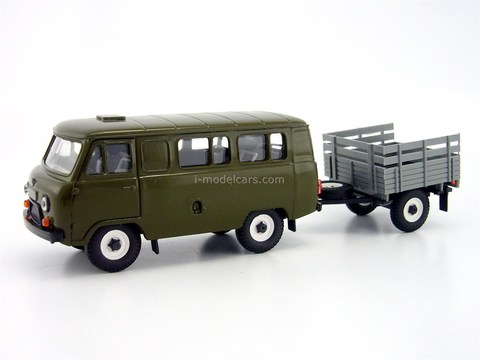UAZ-3962 with trailer 1:43 Agat Mossar Tantal