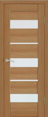 Дверь La Stella 200, стекло матовое, цвет дуб сантьяго, остекленная