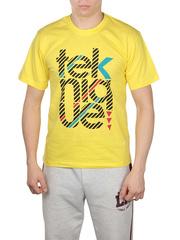 506201 футболка мужская, желтая
