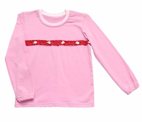 0135 Блузка для девочки трикотажная розовая