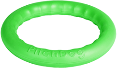 Игрушка для собак игровое кольцо для аппортировки d 20 зеленое, PitchDog 20