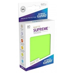 Ultimate Guard - Светло-зелёные матовые протекторы 80 штук в коробочке