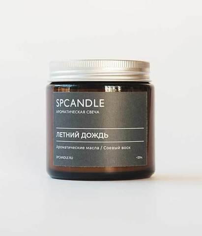 Свеча ароматическая в стекле Летний дождь, SPCandle