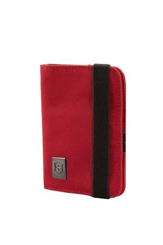 Качественная прочная обложка для паспорта красная из нейлона 800D с защитой от сканирования RFID VICTORINOX 31172203