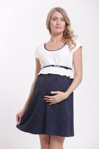 Платье 06012 белый-синий