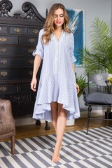 Платье Cindy домашнее женское голубого цвета