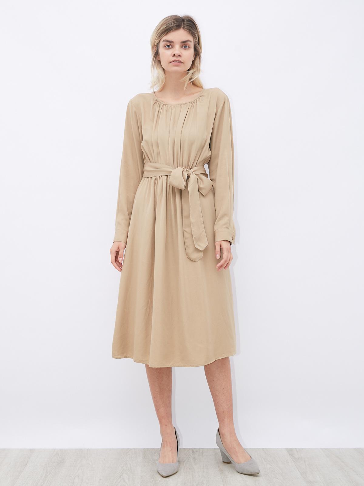 Платье на резинке со вшитым поясом