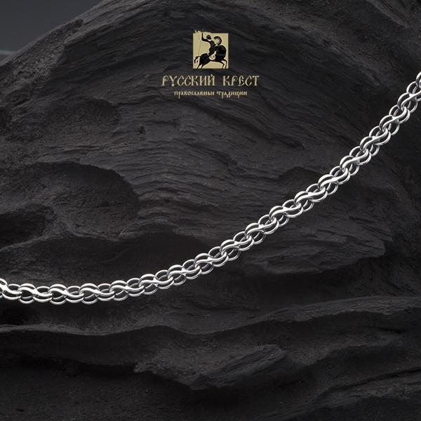Серебряная цепочка женская 50 - 70мм / 0,8мм. Плетение Ручей.