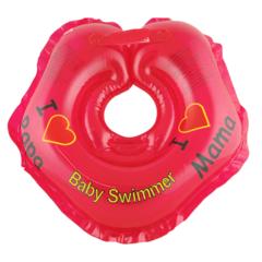Baby-Krug. Детский круг для купания на шею, 0-24 мес красный