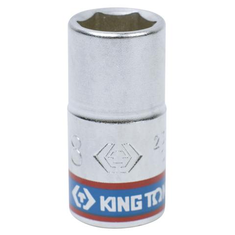 KING TONY (233508M) Головка торцевая стандартная шестигранная 1/4